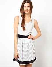 Wal G Dress With Contrast Hem