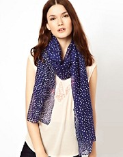 Warehouse Multi Spot Navy Scarf