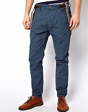 Selected - Chino con bretelle