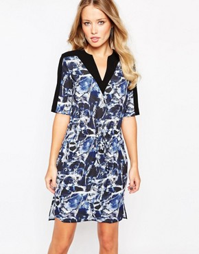 Y.A.S Opal Simple Dress in Crystal Print