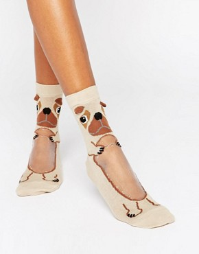 ASOS Pug With Sheer Belly Ankle Socks