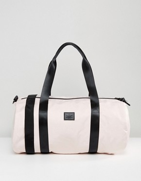 ASOS Barrel Bag In Pink Satin Look