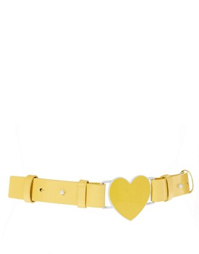 Image 1 ofASOS Heart Shape Buckle Belt