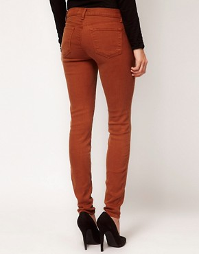 Image 2 ofJ Brand 620 Mid Rise Skinny In Tencel Bourbon