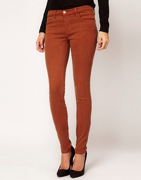 Image 4 ofJ Brand 620 Mid Rise Skinny In Tencel Bourbon