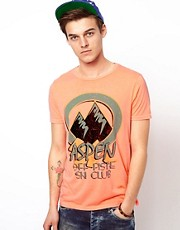 ASOS T-Shirt With Aspen Print And Neon Jersey