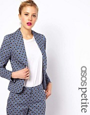 ASOS PETITE Exclusive Blazer In Geo Print