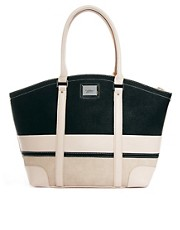 Fiorelli Jade Large Zip Top Monochrome Shopper Bag