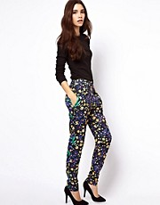 ASOS Peg Pants in Floral Print