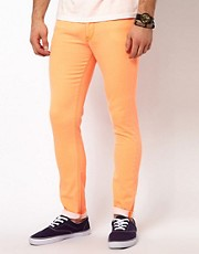 ASOS Skinny Jeans In Fluro