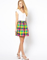 YMC Madras Check Skirt
