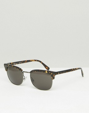 Hugo Boss Retro Sunglasses In Brown