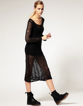 Image 1 ofLongo by James Long For ASOS Open Knit Dress