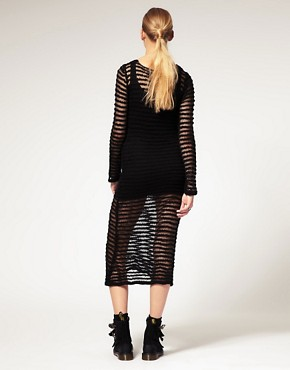Image 2 ofLongo by James Long For ASOS Open Knit Dress