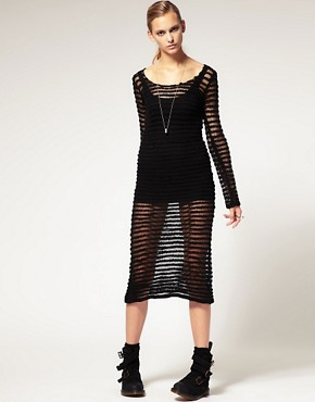 Image 4 ofLongo by James Long For ASOS Open Knit Dress