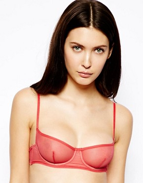 Image 1 ofKallisti by Marios Schwab for ASOS Inc Bardot Mesh Underwired Bra