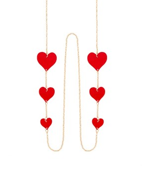 Image 1 ofASOS Hearts Sunglasses Chain