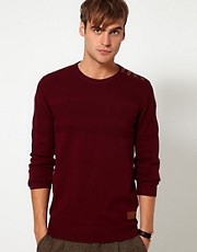 Minimum Sweater with Button Shoulder
