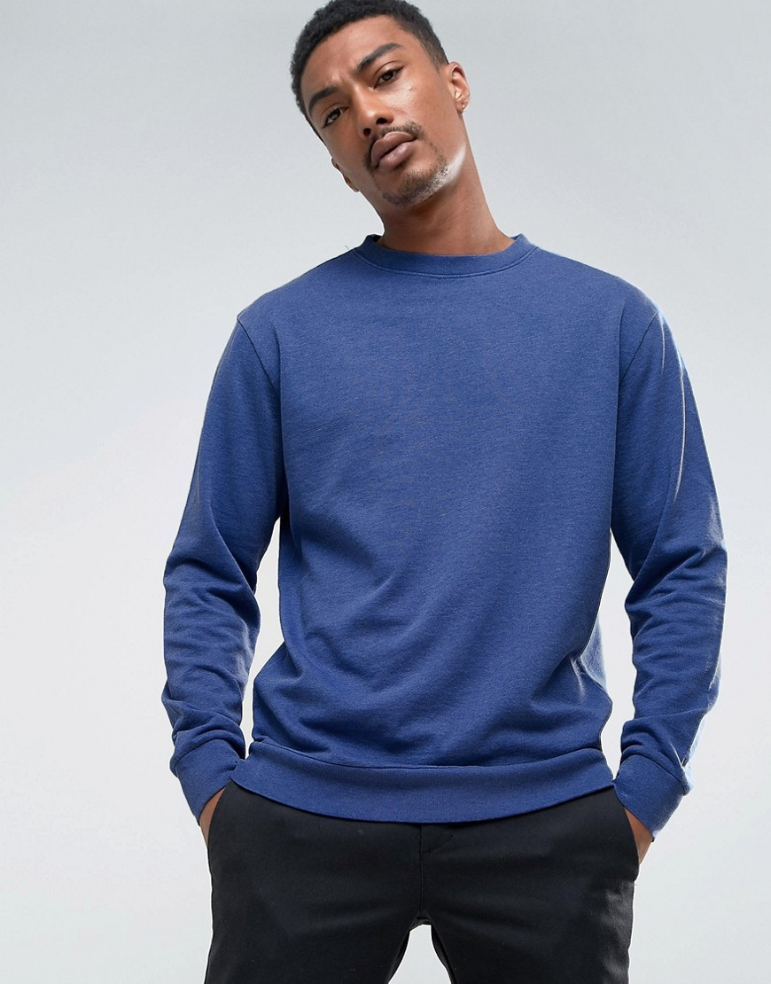 Weekday Steve Washed Sweatshirt - Flash blue