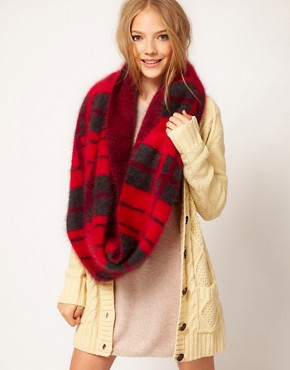ASOS Angora Mix Check Snood from us.asos.com
