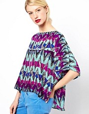 See by Chloe Silk Blouse in Pheonix Print