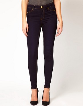 Image 1 of River Island Molly Jegging In Rinse Wash Denim
