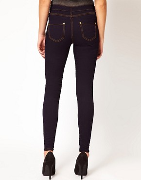 Image 2 of River Island Molly Jegging In Rinse Wash Denim