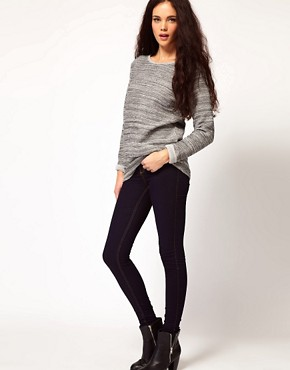 Image 4 of River Island Molly Jegging In Rinse Wash Denim