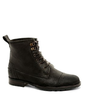 Image 1 ofASOS Workboots With Shearling Lining