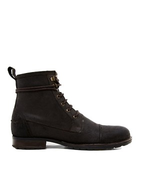 Image 4 ofASOS Workboots With Shearling Lining