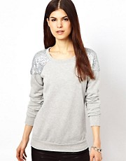 Warehouse Sequin Sweat Shirt