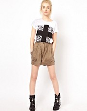 Religion High Waisted Jersey Shorts