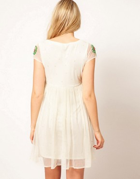 Image 2 of ASOS Maternity Skater Dress With Embellishment