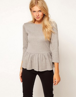 Image 1 ofASOS Peplum Jumper