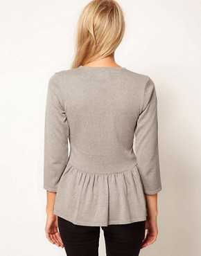 Image 2 ofASOS Peplum Jumper