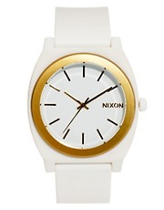 Nixon Time Teller P White &amp; Gold Watch