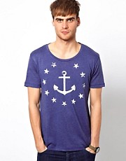 Selected T-Shirt With Anchor Print