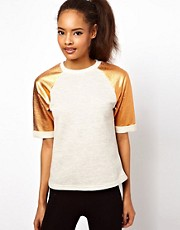 ASOS Sweatshirt with Rose Gold Sleeves