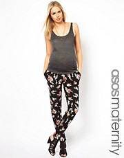 ASOS Maternity Peg Trouser in Floral Print