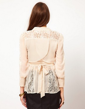 Image 2 ofMina Lace Mix Blouse