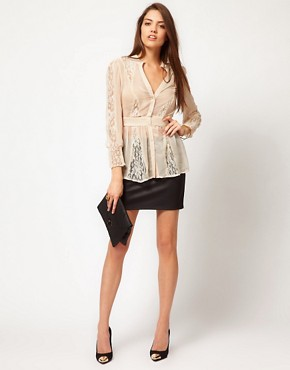 Image 4 ofMina Lace Mix Blouse