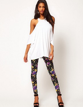 Image 1 ofASOS Legging In Floral Spot Print