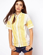 ASOS Shirt With Contrast Bright Embroidery