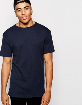 New Look Ribbed T-Shirt in Longer Length