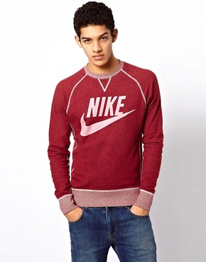 Image 1 ofNike Vintage Marl Crew Sweatshirt
