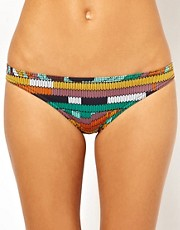 ASOS Geo Swirl Print Hipster Bikini Pant