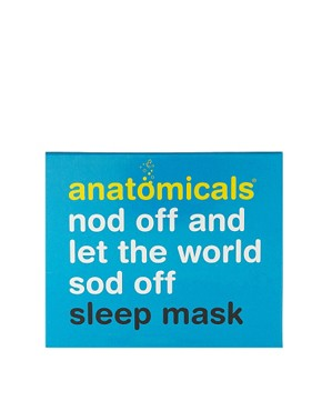Image 2 ofAnatomicals Nod Off &amp; Let The World Sod Off Silk Sleep Mask