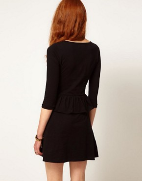 Image 2 ofAime by People Tree Organic Jersey Peplum Dress