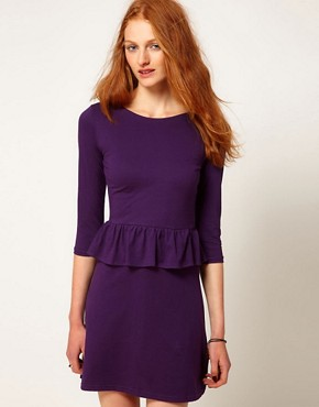 Image 1 ofAime by People Tree Organic Jersey Peplum Dress