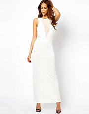 True Decadence Maxi Dress with Mesh Panels
